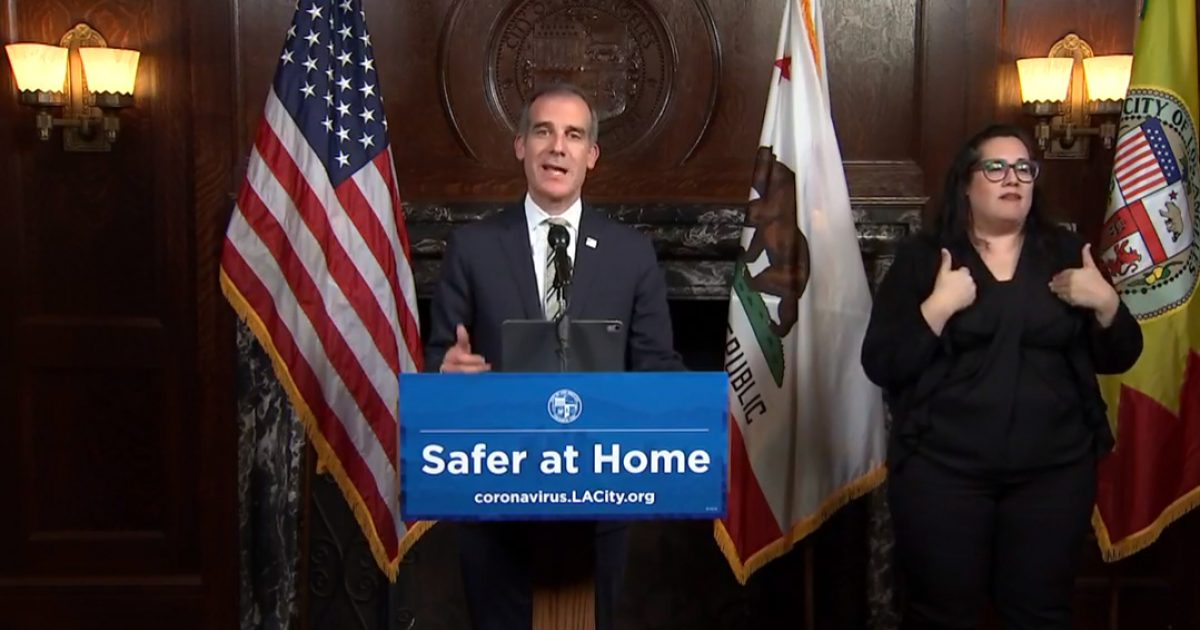 "Los Angeles Mayor Threatens ""Non-Essential"" Businesses He'll Shut Off Water, Power If They Do Not Obey The City's ""Stay At Home"" Order"