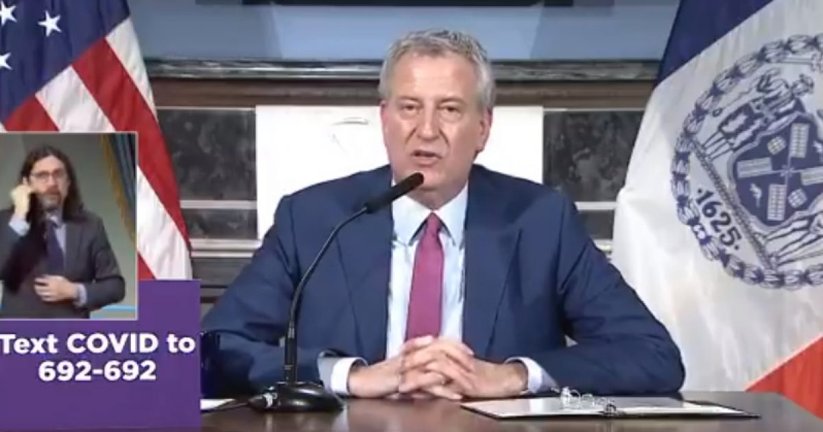 Mayor De Blasio: If Churches And Synagogues Hold Services They Can Be Closed Permanently