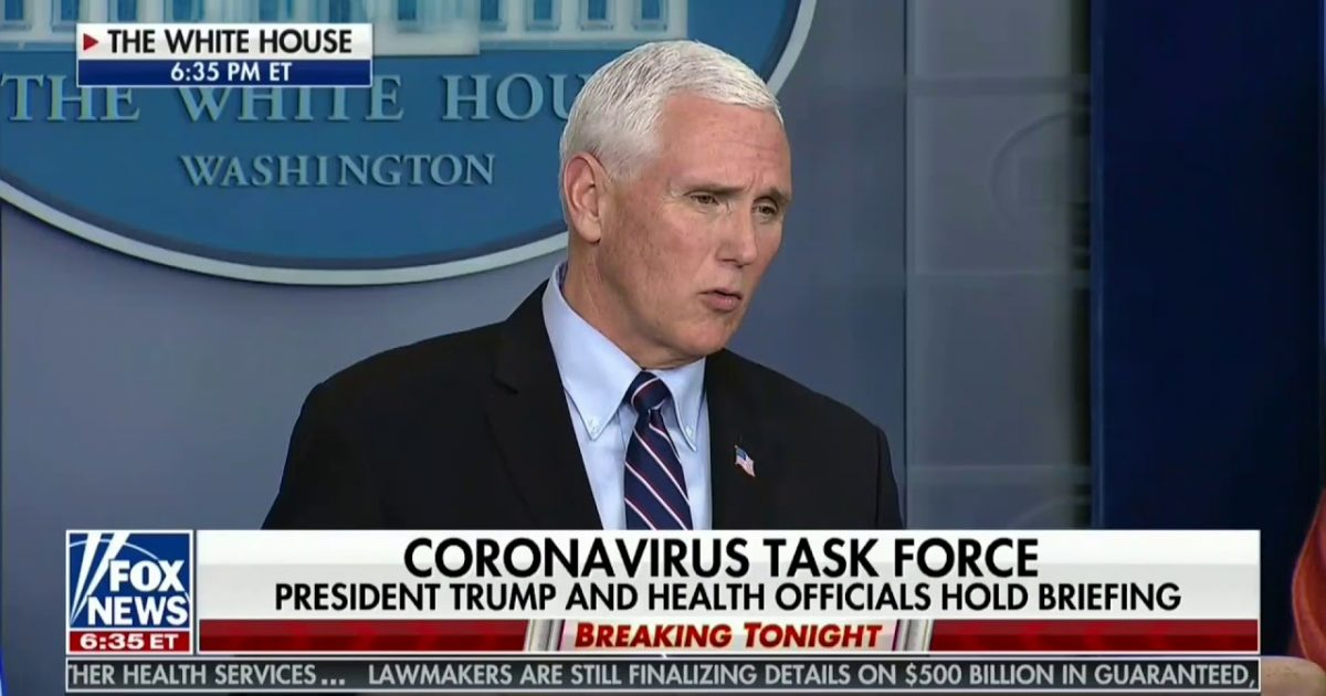"Vice President Pence: ""Hundreds Of Companies Have Stepped Forward"" To Produce Medical Supplies"