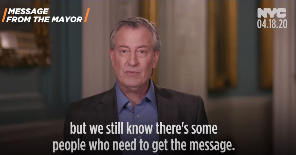 Mayor Bill de Blasio: Here's How You Can Report On Your Neighbor