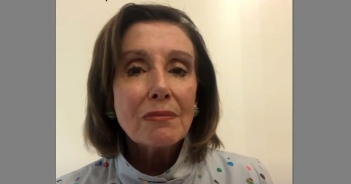 Nancy Pelosi: Economy Collapsing Because Trump Refused To Accept Facts, Called Virus A 'Hoax'