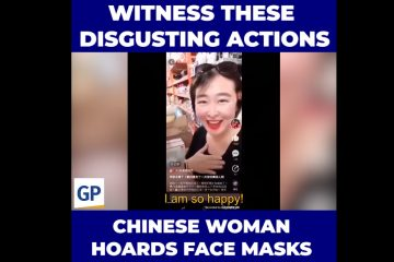Chinese Woman Hoards Face Masks To Prevent Americans From Buying (Video)