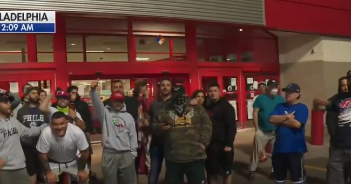 Philadelphia Residents Block The Entrance Of Target To Prevent Looters (Video)